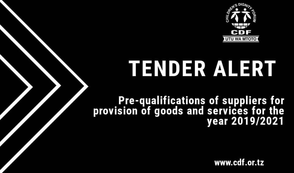 INVITATION FOR TENDER: PRE-QUALIFICATIONS OF SUPPLIERS FOR PROVISION OF GOODS AND SERVICES FOR THE YEAR 2019/2021